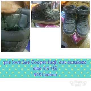 Pre love Lee Cooper high cut sneakers