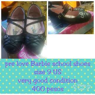 Pre love Barbie school shoes