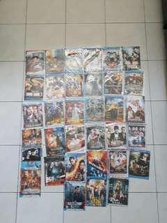 Koleksi kaset DVD action Mandarin,Thailand,Jepang,Korea