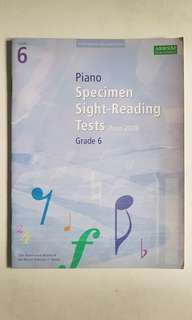 ABRSM Specimen Sight Reading Tests (From 2009)