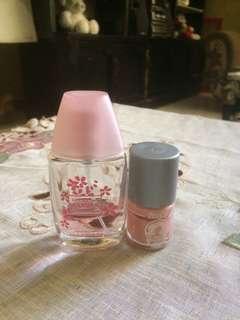 Parfum miniso & nail polish naughty