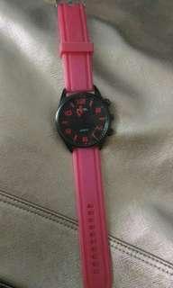 Preloved jam tangan merah jenki