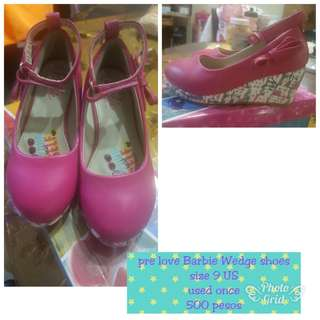 Pre love Barbie wedge shoes