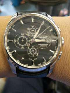 Tissot chronograph automatic come with wty card and box condition 95 % new list $1900