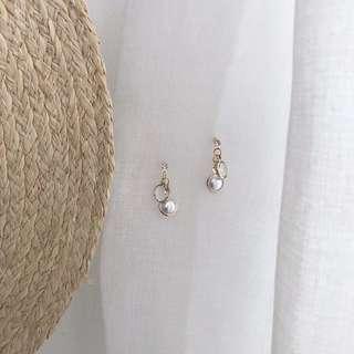 🚚 《早衣服》6月心品🚣🏻♀️甜美少女氣質珍珠水晶個性百搭鋯石耳針夾式耳環無耳洞耳夾(預)