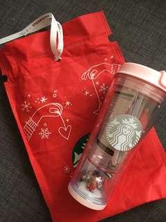 2017 Starbucks Korea Waterball Rudolph Tumbler