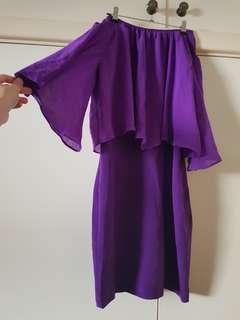 BNWT A Wear Purple Sleeved Dress Size 8/S