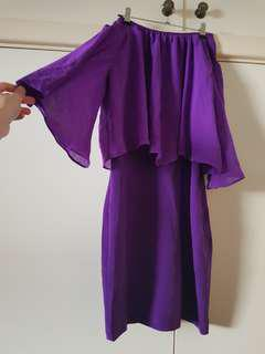 BNWT A Wear Purple Sleeved Dress Size 8/S