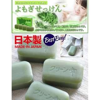 《6/27結單》日本製_艾草皂(98g×4入/組)-預購  00552