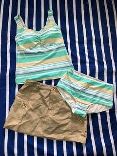 🚚 ☀️全新便宜賣,夏天就是要玩水💦💦💦全新三件式泳裝,材質舒服,裙子可搭可不搭都好看❤️裙子材質平時也能穿,買到賺到