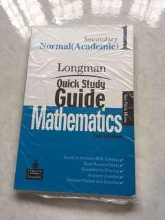 Sec 1 maths longman quick study guide