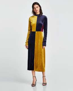 Zara velvet block dress