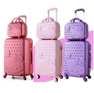 24 inches hello kitty 2 in 1 luggage - new