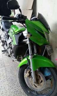 Ninja 150R hijau 2014 original 100persen