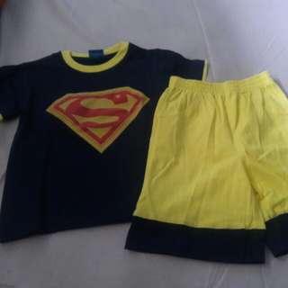 Set baju anak superbaby