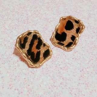🚚 歐美華麗豹紋耳環/耳釘