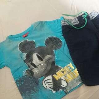 Set baju anak disney