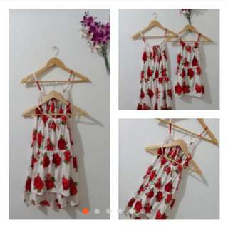 Halter Dress Mother and Daughter Set