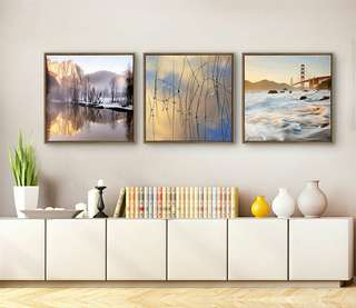 New set of 3 50*50 Mural Canvas Painting for living, bedroom room