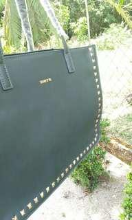 Sembonia Vinyl Tote Bag (Dark Green)