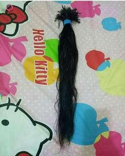 hair Extension / rambut sambungan 100% asli bukan plastik atau campuran
