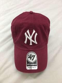 🚚 NY紐約洋基酒紅老帽