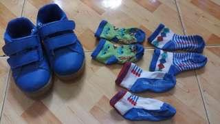 Sugar kids shoes with 3 burlington socks