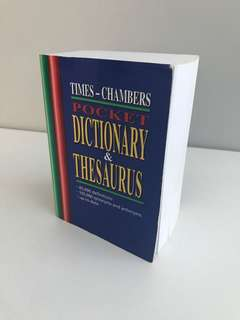 Pocket size dictionary and thesaurus