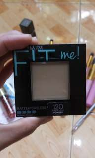 Bnew maybelline fit me classic ivory 120
