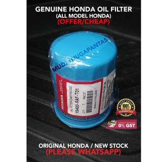 GENUINE HONDA OIL FILTER (ALL MODEL HONDA) (OFFER/CHEAP)