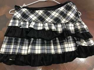 🚚 Miss O專櫃 格子 蛋糕裙