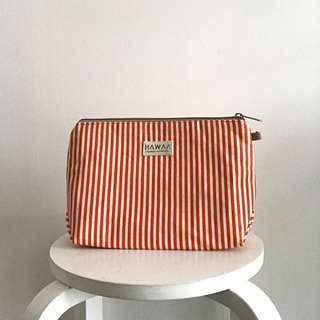 Orange stripe pouch