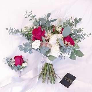 Bridal bouquet | Wedding decor | Flower Bouquet | Car Decor