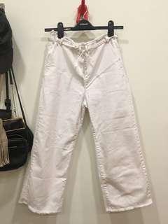 🚚 Zara白色寬褲