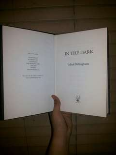 """IN THE DARK""  by: Mark Billingham"