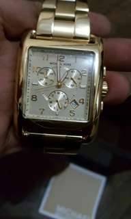 Michael kors watch jet set chronograph gold tone ladies watch