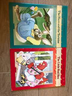 Addison Wesley Story Book - The Hare and the Tortoise ; The Little Red Hen ;