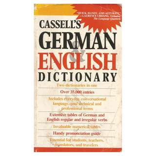 Cassell's German-English Dictionary