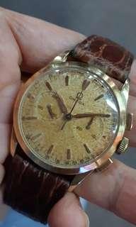 Omega 18k solid gold chrograph.cal 320.