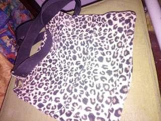 Animal print sling bag