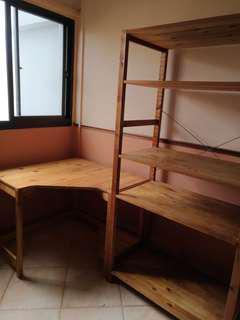 Study desk and shelves