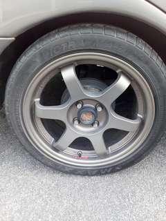 Wira 16Inch Sport Rim With Tyres( Lite Weight).