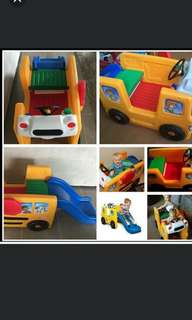 Little Tikes School Bus Playground Slide #winsb