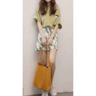 2018 summer teenagers' Korean fashion(skirt, t-shirt, bag)