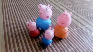 Peppa Pig 4pcs Toy Figurine Cake Topper