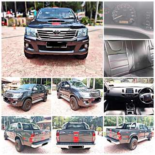 SAMBUNG BAYAR/CONTINUE LOAN  TOYOTA HILUX TRD 2.5 MANUAL YEAR 2015 MONTHLY RM 1025 BALANCE 6 YEARS LEATHER SEAT MILEAGE LOW TIPTOP CONDITION  DP KLIK wasap.my/60133524312/hilux(m)