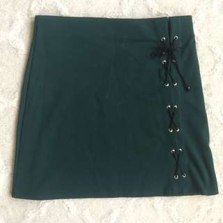 Navy Green Skirt