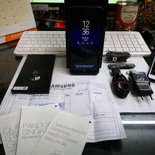 SAMSUNG S8 SEIN Maret 2019 mulus 100% dual Indonesia black hitam S7 S9 EDGE Plus Note 8 Mate 9 10 Pro P10 P20 G6 G7 V30 Pixel 2 XL