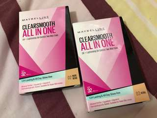 🚚 Maybelline Clearsmooth All in One UV+Lightening Oil-Control Two Way Cake