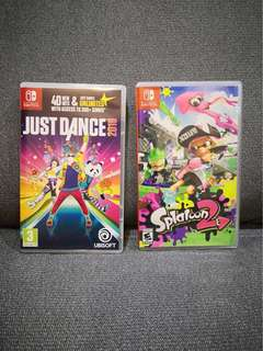 Switch - Splatoon 2 (US) & Just dance 2018